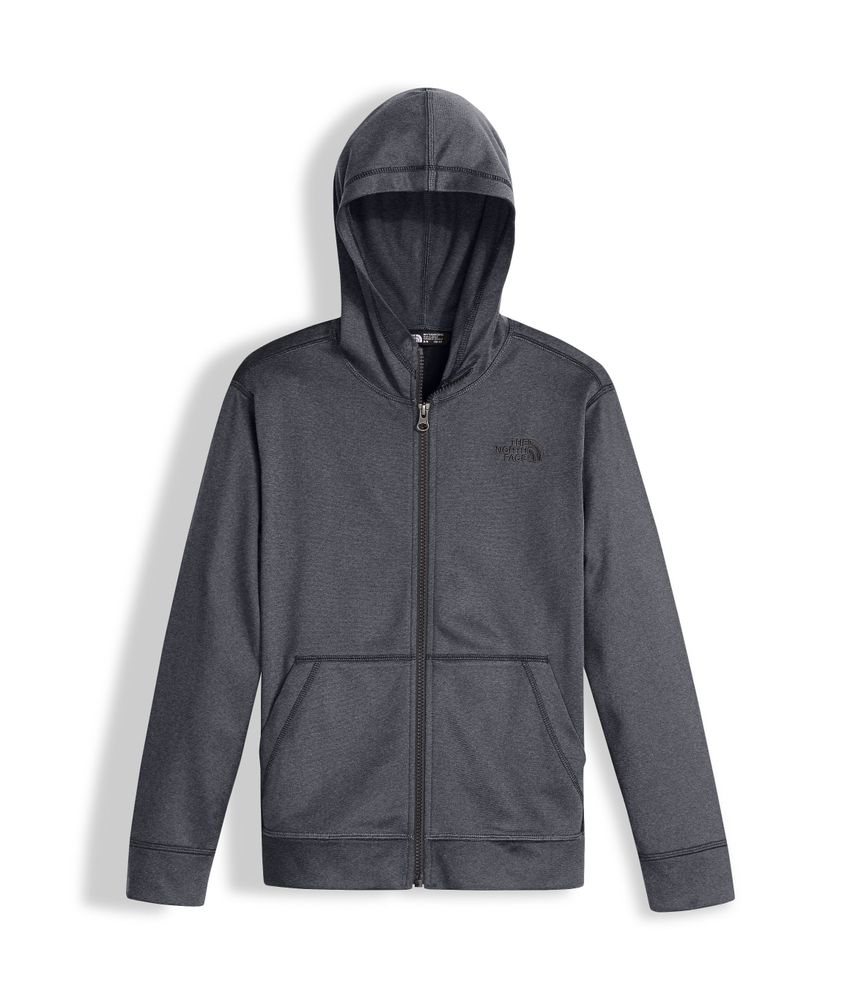 BOYS--TECH-GLACIER-FULL-ZIP-HOODIE---COLOR--GRIS---TALLA--S